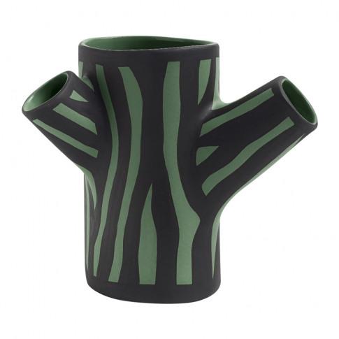 Hay - Tree Trunk Vase - Dark Green - Small