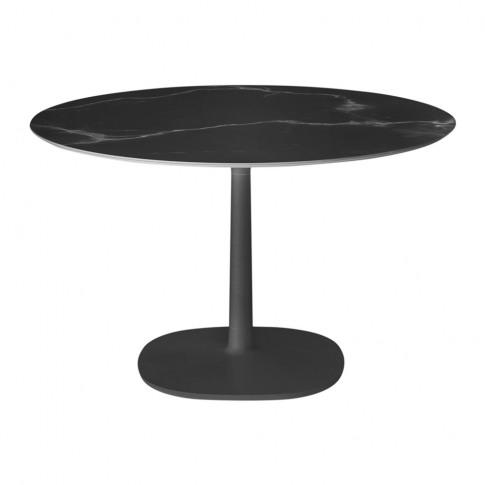 Kartell - Multiplo Round Marble Side Table - Black
