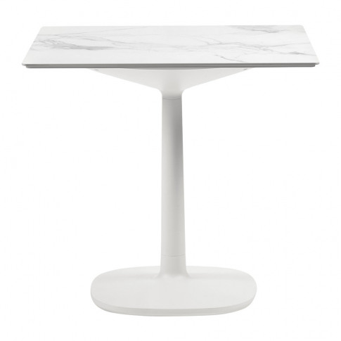 Kartell - Multiplo Square Marble Side Table - White