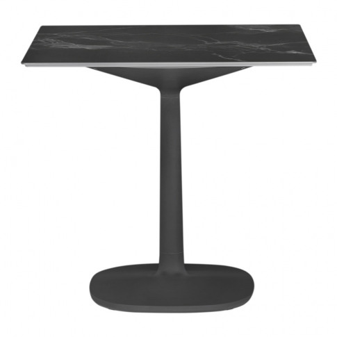 Kartell - Multiplo Square Marble Side Table - Black