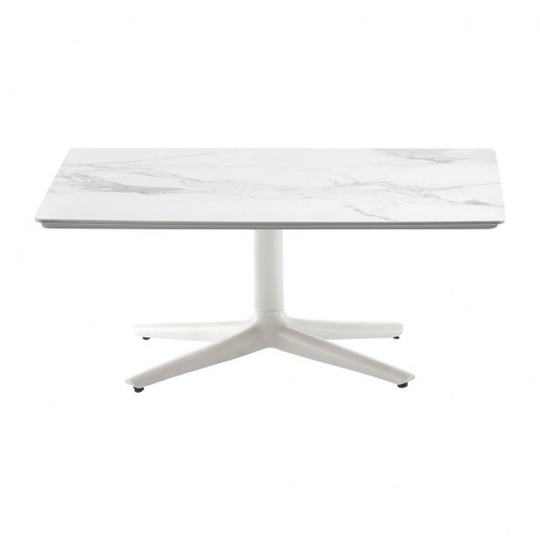 Kartell - Multiplo Square Marble Coffee Table - White