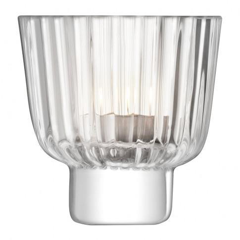 Lsa International - Pleat Tealight Holder - Clear