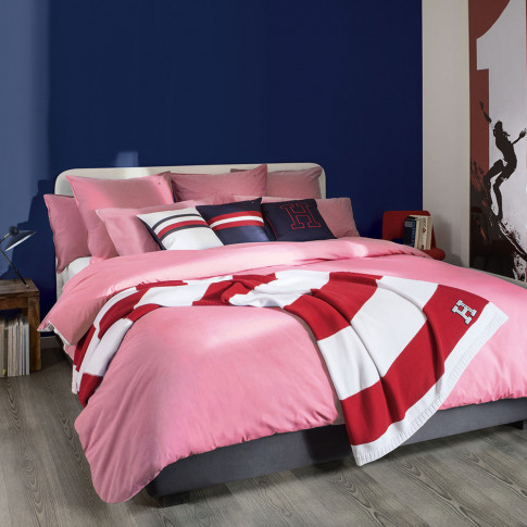 Tommy Hilfiger - Chambray Duvet Cover - Pink - Super...