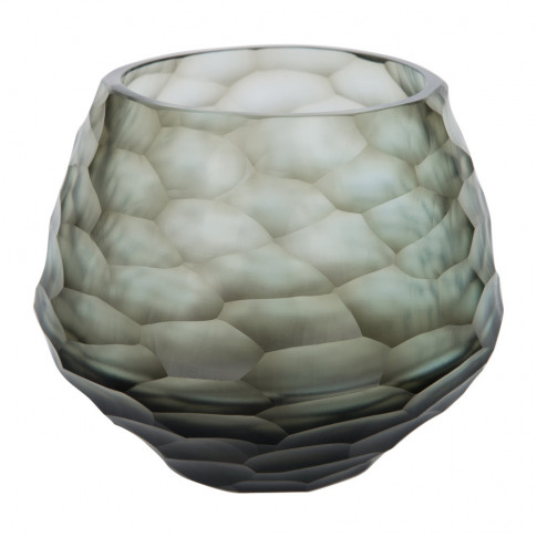 A By Amara - Hidcote Glass Votive - Steel Blue