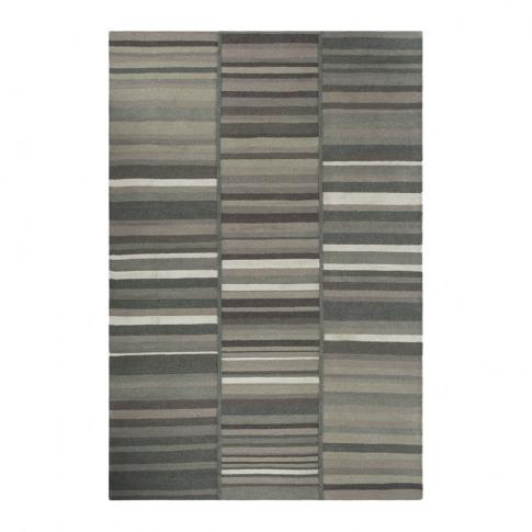 A By Amara - Three Row Stripe Rug - 140x200cm - Grey