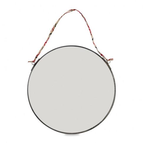 Nkuku - Kiko Round Mirror - Antique Zinc - Small