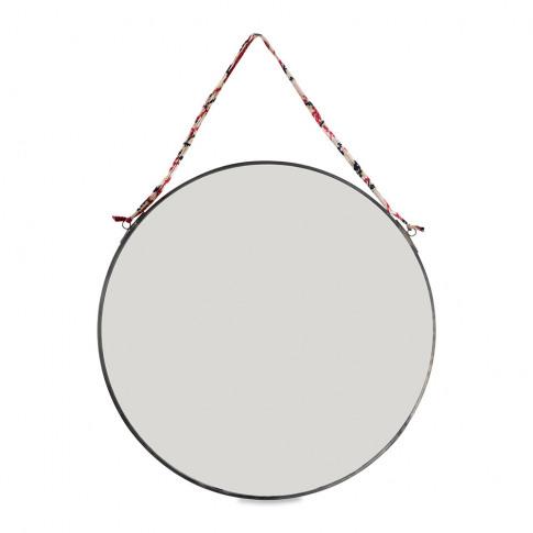 Nkuku - Kiko Round Mirror - Antique Zinc - Large