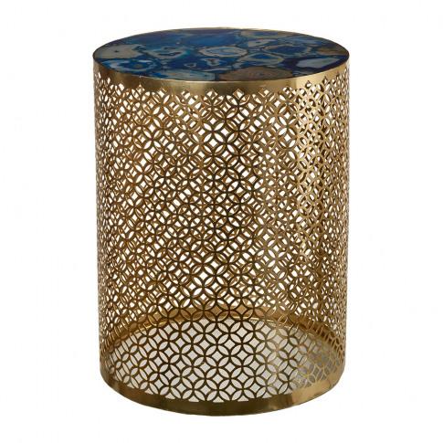 Pols Potten - Semi Precious Stone Side Table - Blue/...