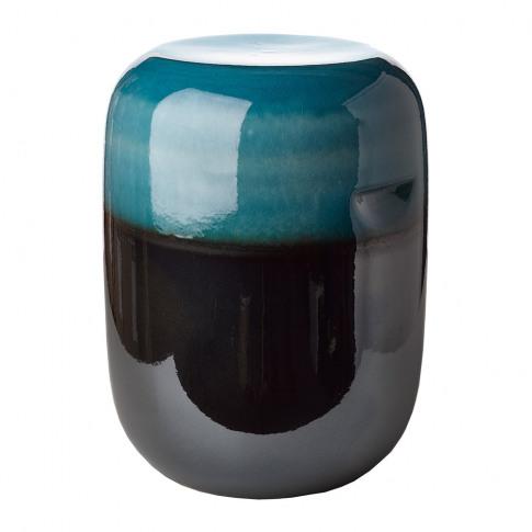 Pols Potten - Ceramic Pill Stool - Blue Bronze Gradient