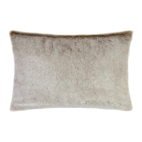 Helen Moore - Faux Fur Latte Cushion - 30x45cm