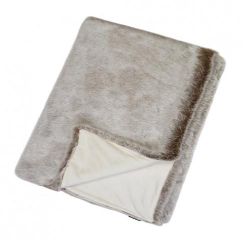 Helen Moore - Faux Fur Throw - 180x145cm - Latte