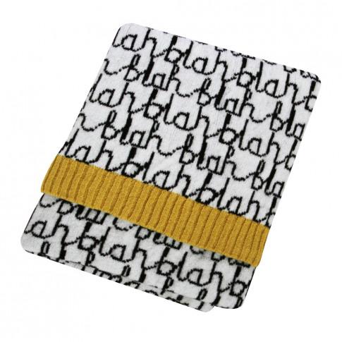 Donna Wilson - Mini Knitted Blanket - Blah Blah - Bl...