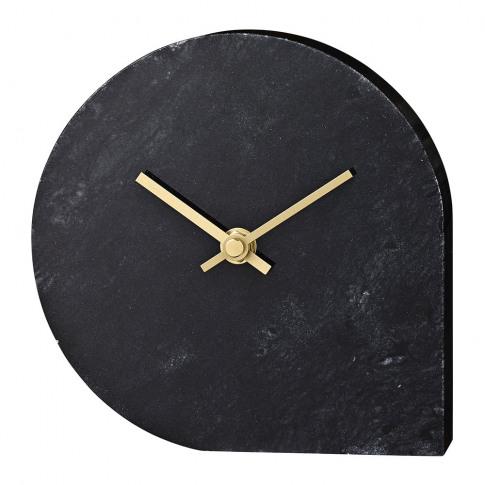 Aytm - Stilla Marble Clock - Black