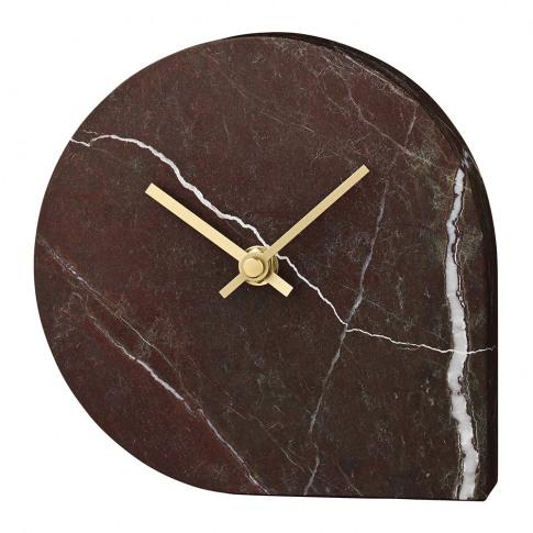 Aytm - Stilla Marble Clock - Bordeaux