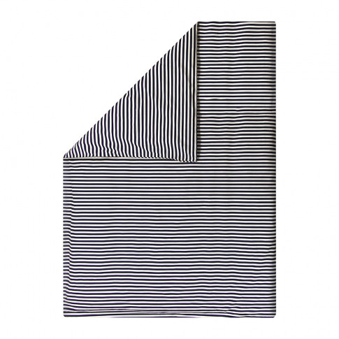 Marimekko - Tasaraita Duvet Cover - White/Navy - Single