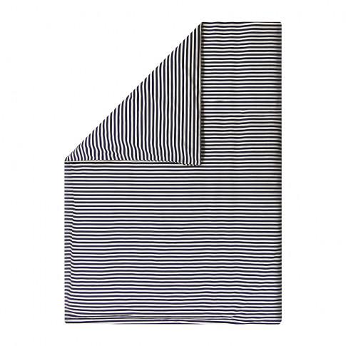 Marimekko - Tasaraita Duvet Cover - White/Navy - Double