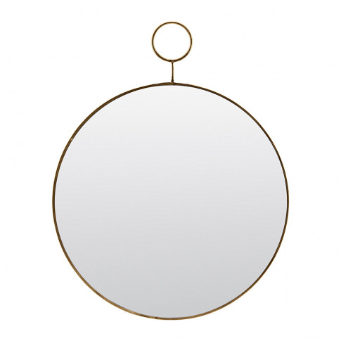 House Doctor - Loop Mirror - Brass - Small