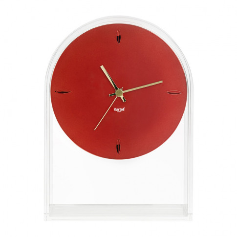 Kartell - Air Du Temps Clock - Crystal/Red