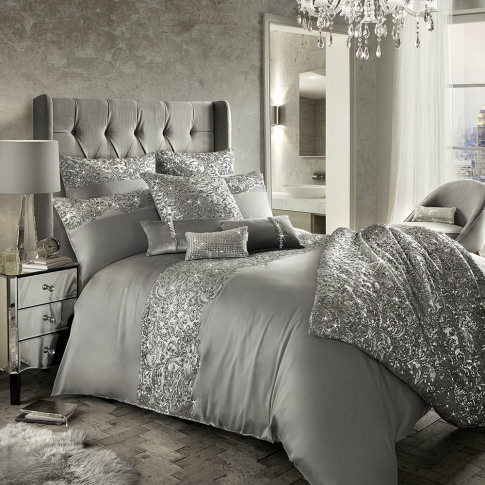 Kylie Minogue At Home - Cadence Duvet Cover - Silver...