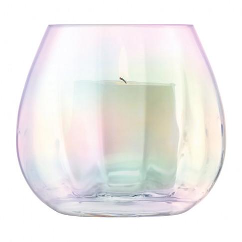 Lsa International - Pearl Blown Glass Lantern/Vase - 13cm