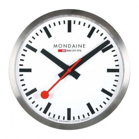 Mondaine Sbb - Classic Wall Clock - Silver