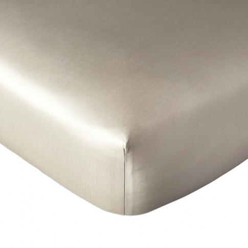 Dkny - Plain Dye Fitted Sheet - Linen - King