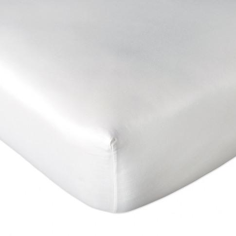 Dkny - Plain Dye Fitted Sheet - White - Double