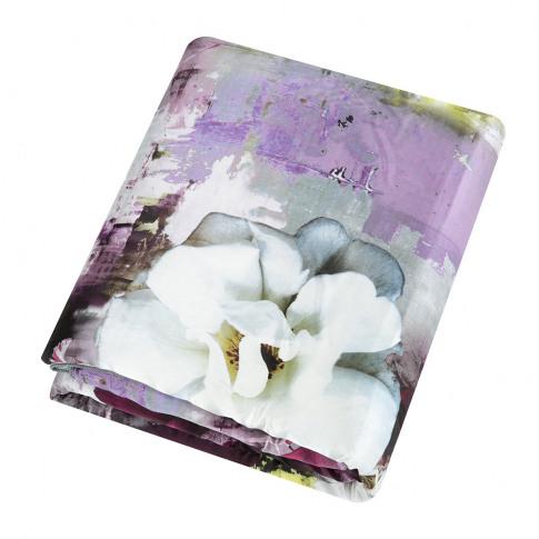 Roberto Cavalli - Dark Flower Silk Throw - Fuchsia