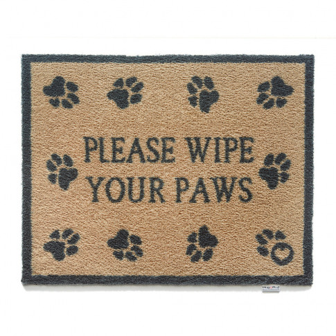Hug Rug - Please Wipe Your Paws Washable Recycled Do...