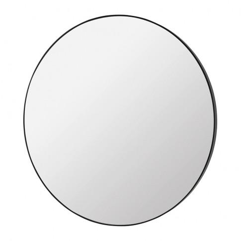 Broste Copenhagen - Complete Round Mirror - Black Wo...