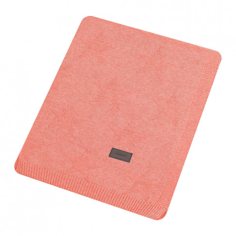 Gant - Top Star Knitted Throw - Apricot Blush