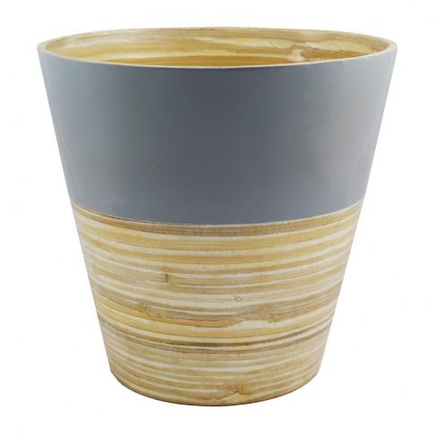 Iron & Clay - Bamboo Planter - Grey
