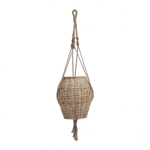 House Doctor - Hanging Woven Planter - Large