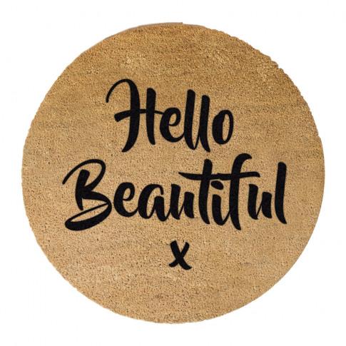 Artsy Doormats - Hello Beautiful Door Mat - Round