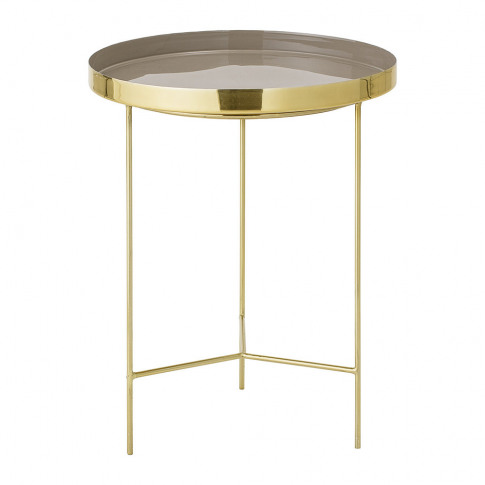 Bloomingville - Round Aluminum Tray Table - Large - Gold/Brown