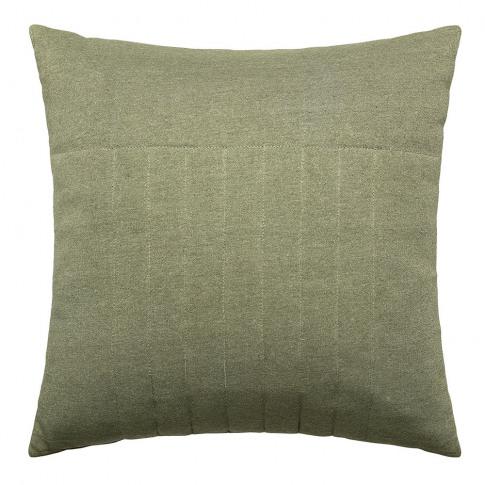 Bloomingville - Ridged Cotton Cushion - 45x45cm - Green