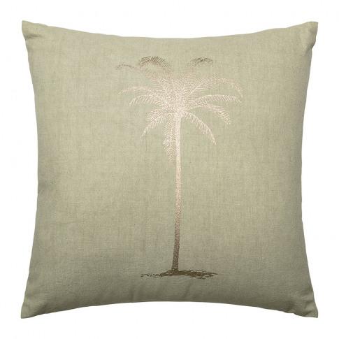Bloomingville - Green Cotton Palm Tree Cushion - 45x...