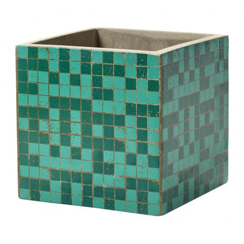 Serax - Marie Mosaic Green Square Plant Pot - 17cm