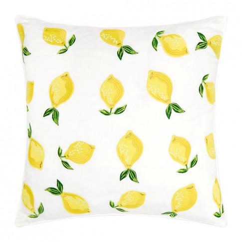 Elizabeth Scarlett - Lemon Cushion - 45x45cm - Blanc