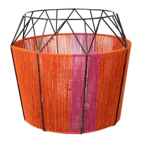 A By Amara - Wide Base Rope Lantern - Coral