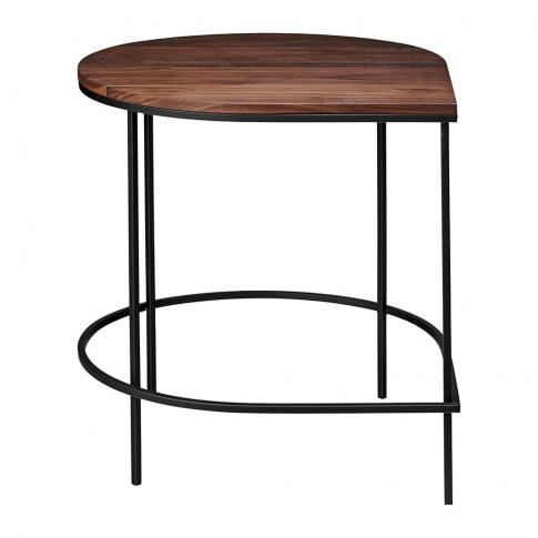 Aytm - Stilla Coffee Table - Walnut/Black Iron