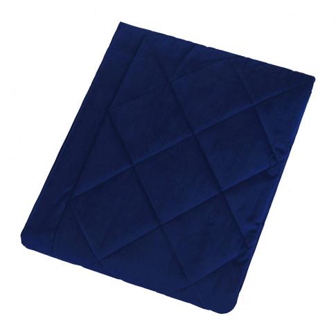 A By Amara - Diamond Velvet Bedspread - Royal Blue -...