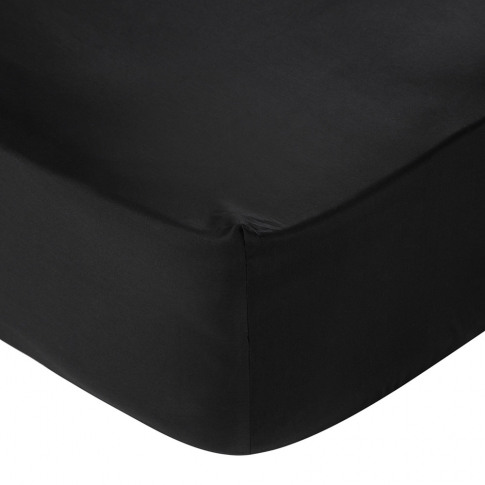 A By Amara - Egyptian Cotton Fitted Sheet - Black - ...