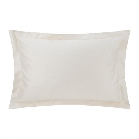 A By Amara - 500 Thread Count Sateen Oxford Pillowcase Pair - Ivory