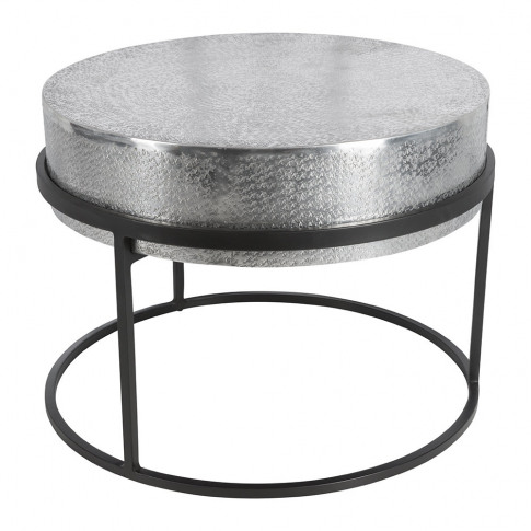 A By Amara - Deep Top Round Side Table - Silver