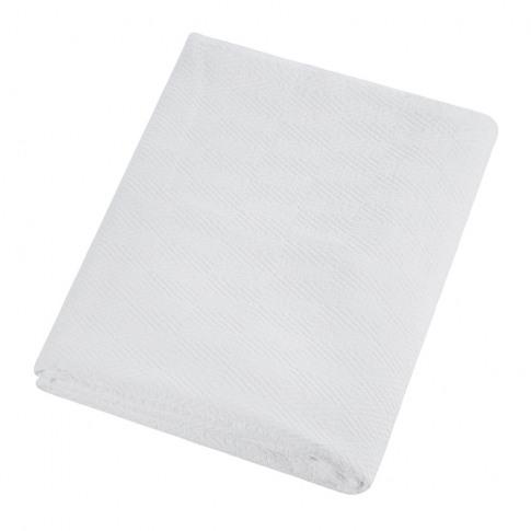 A By Amara - Diamond Textured Cotton Bedspread - Whi...