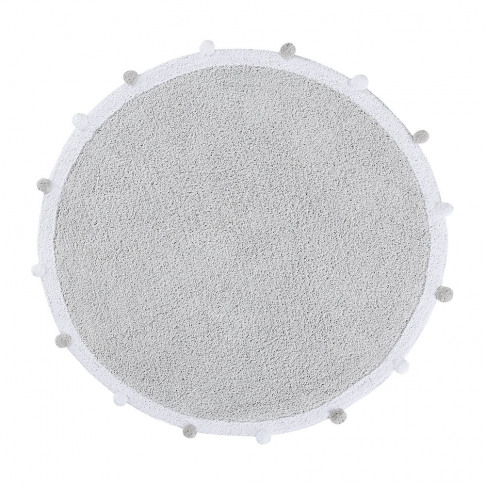 Lorena Canals - Bubbly Round Washable Rug - 120cm - Light Grey
