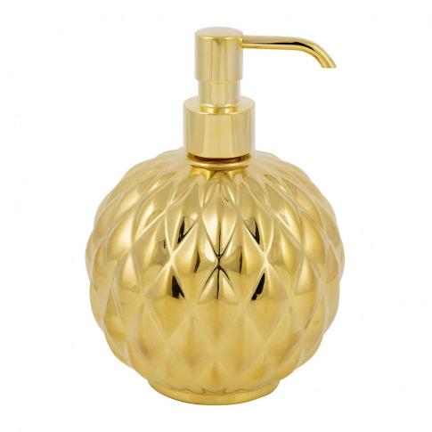Villari - Black Tie Round Soap Dispenser - Gold