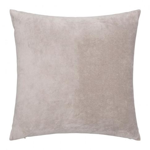 Niki Jones - Velvet Linen Cushion - Oyster - 50x50cm