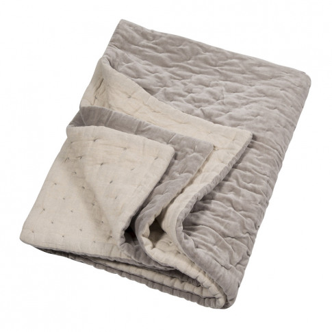 Niki Jones - Velvet Linen Bedspread/Quilted Throw - ...
